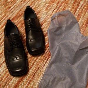 Big boys 4 black dress shoes oxfords